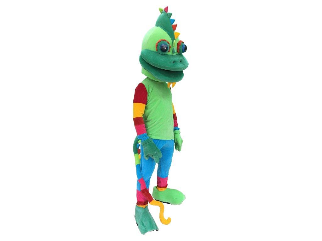 Chameleón - maskot prenájom