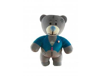 Nafukovací medveď - maskot Modráčik prenájom