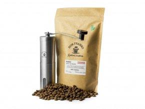 začni si mlít čerstvou zrnkovou kávou z rodinné pražírny Don Franko