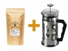 French press Bialetti 1000 ml a 250 g kávy Don Franko