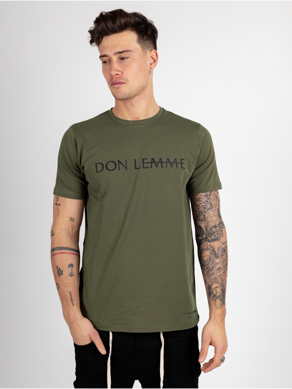 Tričko Label - khaki