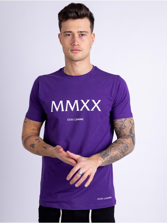 Tričko MMXX - fialové