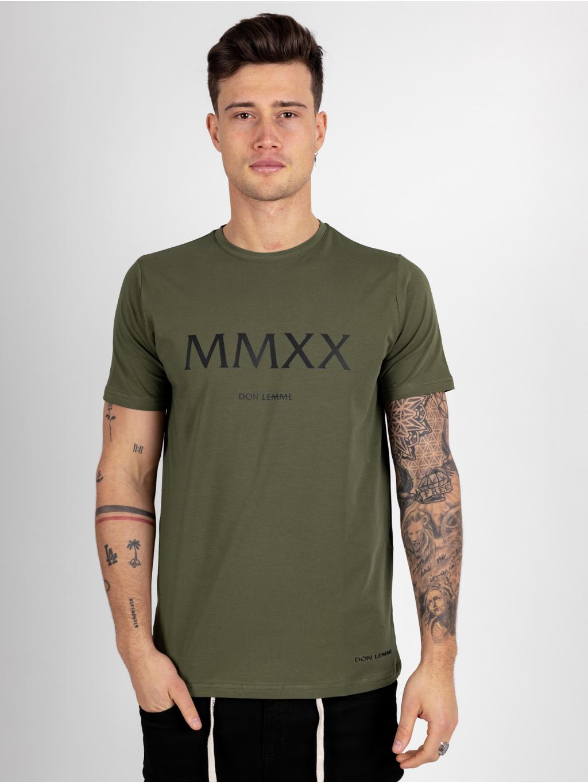 Tričko MMXX - khaki