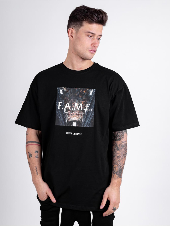 Oversized Tričko Fame - černé