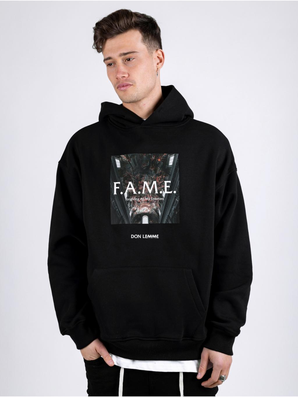 Oversized Mikina Fame - černá