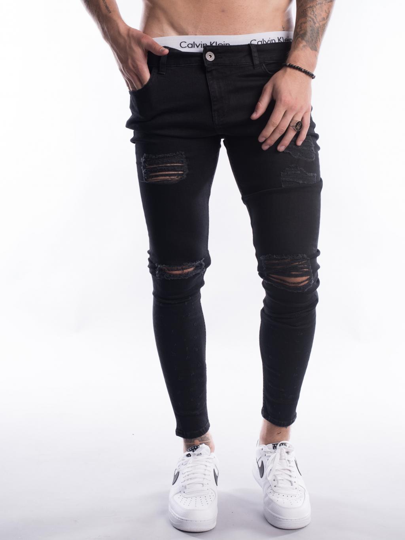 Džíny Ripped - Black
