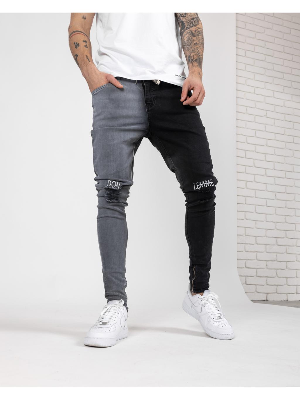 Džíny Half - Black and Grey