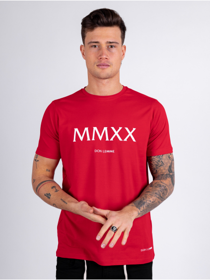 Tričko MMXX - červené