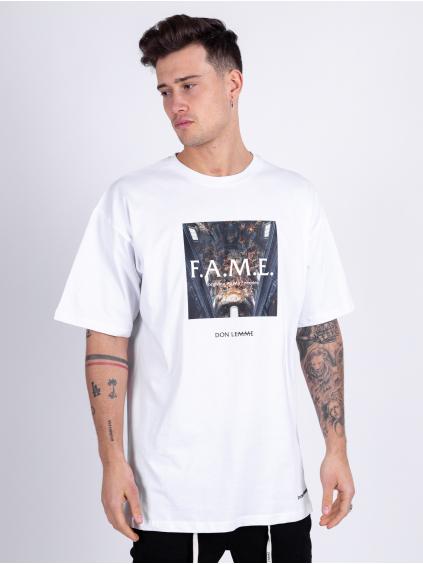 Oversized Tričko Fame - bílé