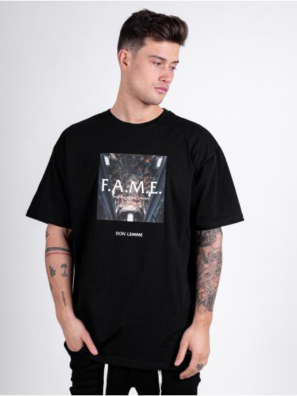 Oversized Triko Fame - černé
