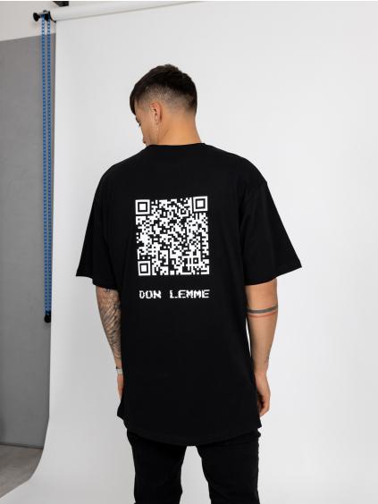 Oversized Tričko QR Code - černé