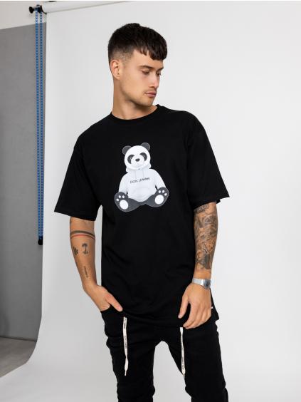 Oversized Tričko Panda - černé