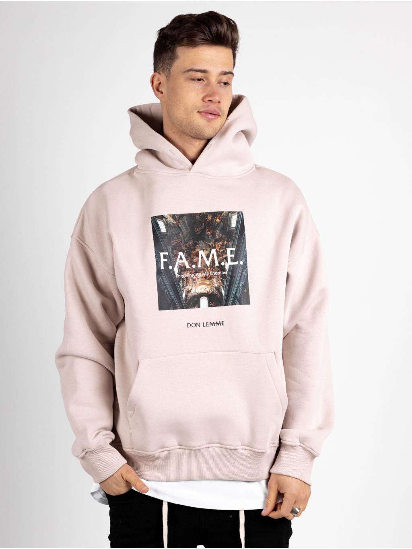 Oversized Melegítő Felső Fame - bézs