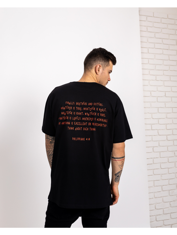 Oversized Póló Philippians - fekete