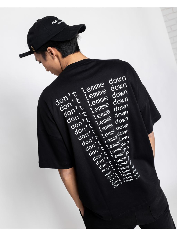 Unisex Póló Don't - fekete