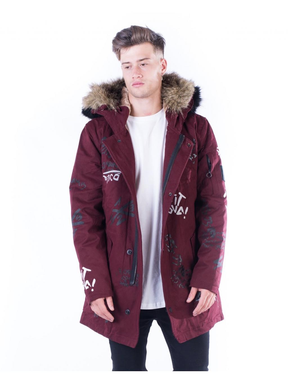 Kabát About - bordó