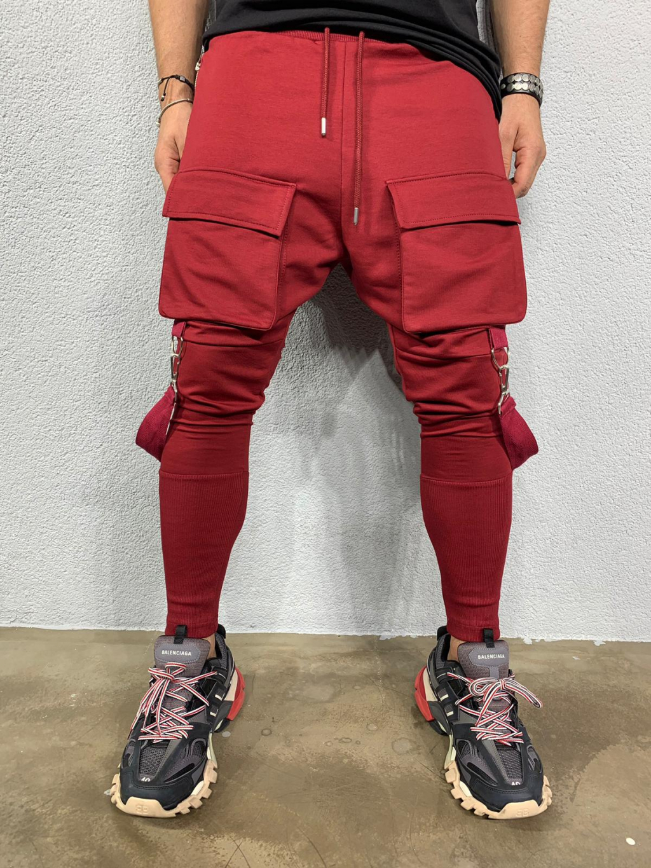 Melegítő nadrág Cash - bordó