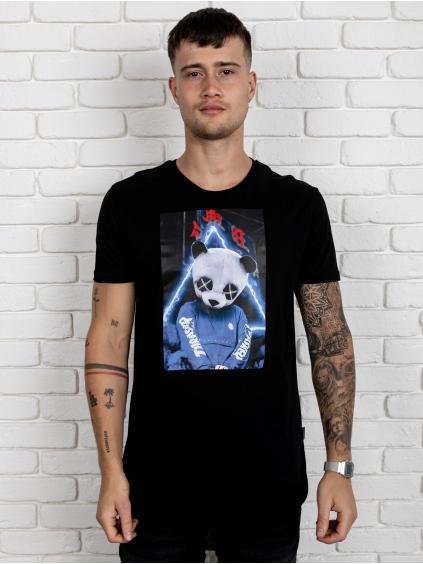 Póló Panda - fekete