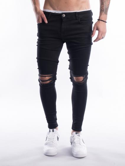 Džíny Knee - Black (Velikost 34S)