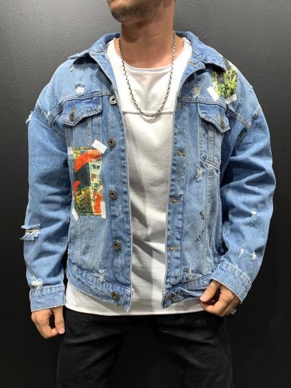 Farmer kabát Artistic - kék