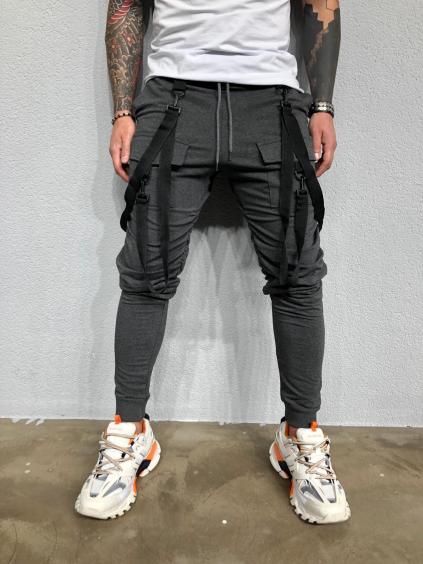 Melegítő nadrág Hall - szürke