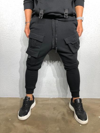 Melegítő nadrág Flume - fekete