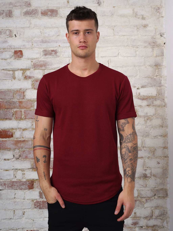 Tricou Cercle - vișiniu