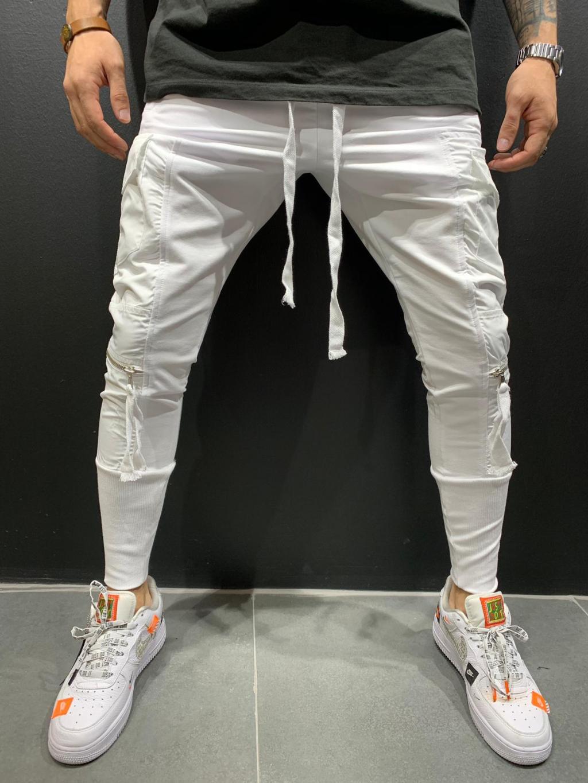 Pantaloni de trening Conga - albi