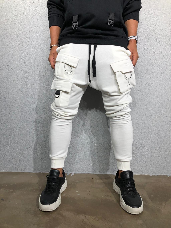 Pantaloni de trening Flume - albi