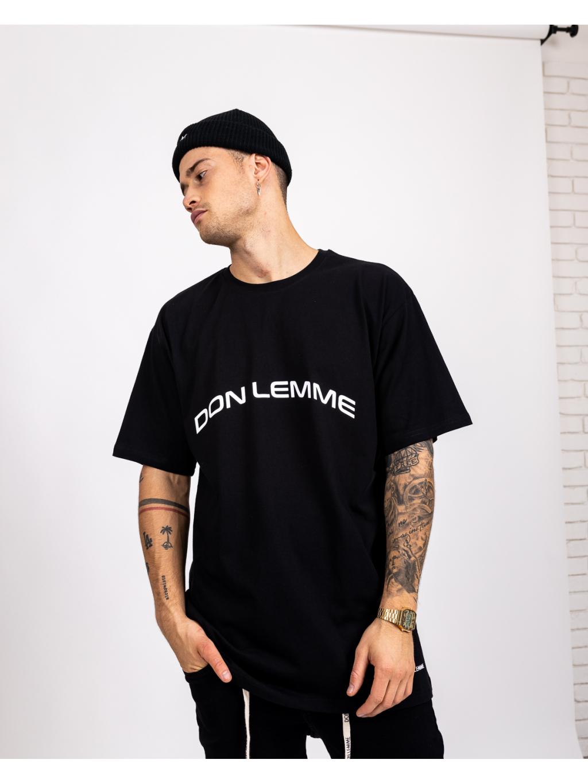 Tricou Oversized Curve - negru