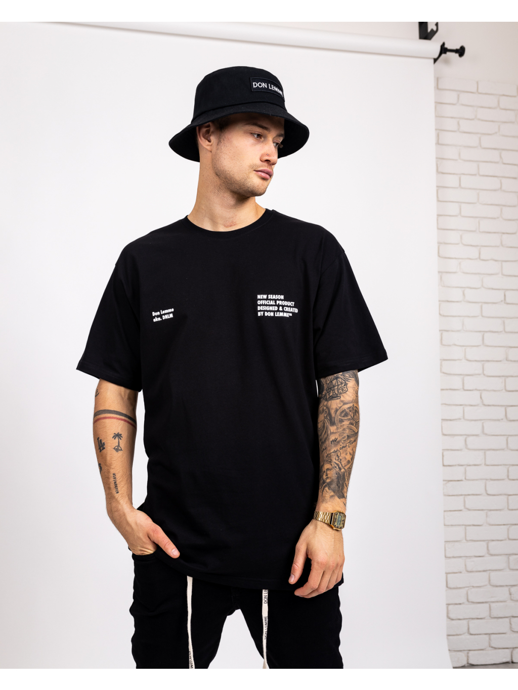 Tricou Oversized New Season - negru
