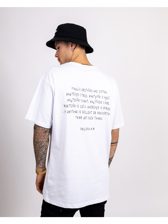 Tricou Oversized Philippians - alb