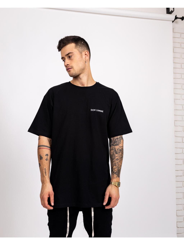 Tricou Oversized Minimal - negru