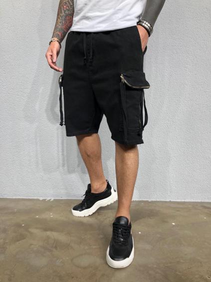Pantaloni scurți Mesic - negri