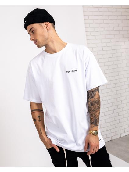 Tricou Oversized Minimal - alb