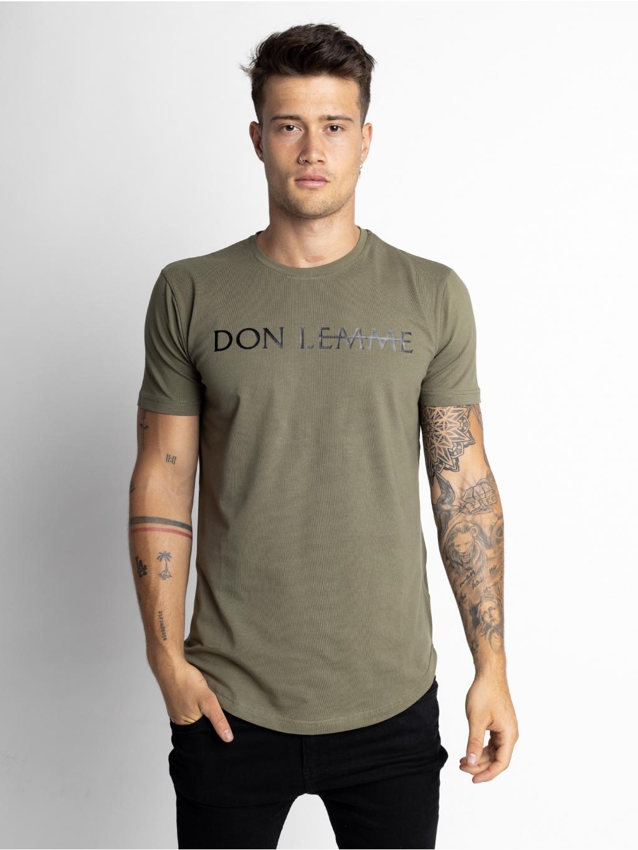 Tričko Brand - khaki
