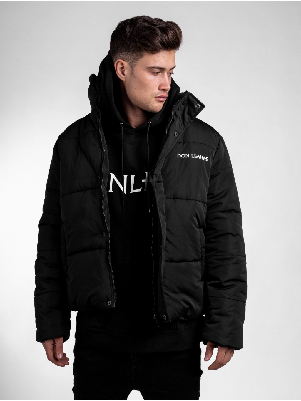 Zimná bunda Panel - čierná
