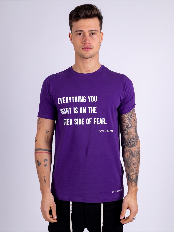 Tričko Fear - fialové