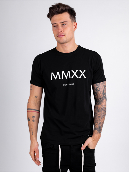 Tričko MMXX - čierné