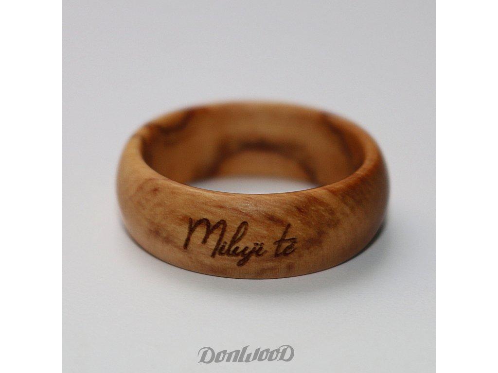 prsten ze dreva oliva