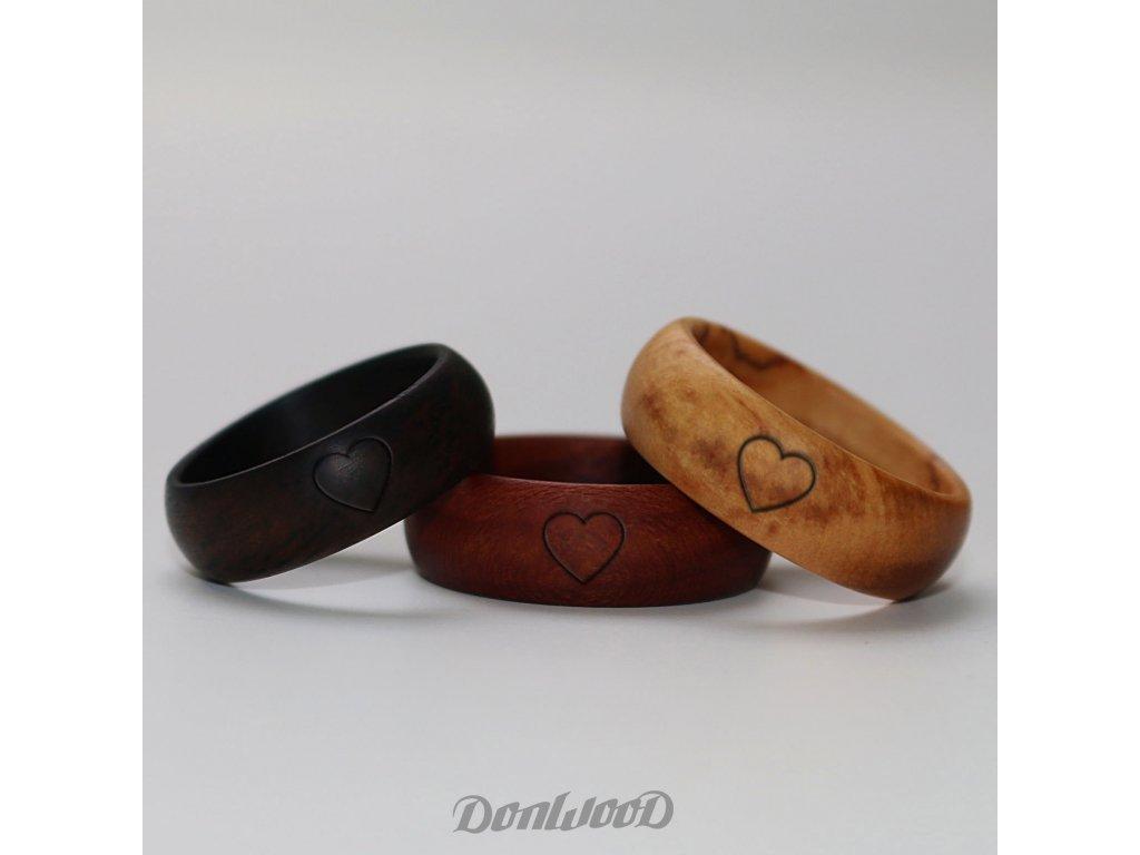 dreveny prsten srdicko donwood