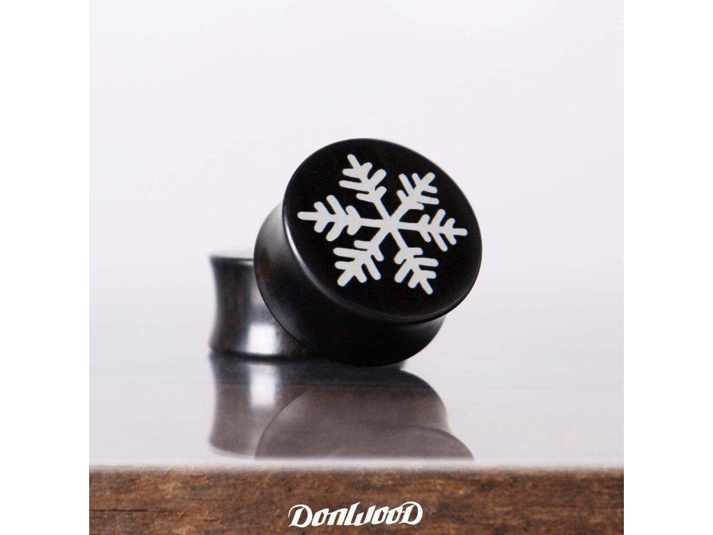 dreveny plug snehova vlocka