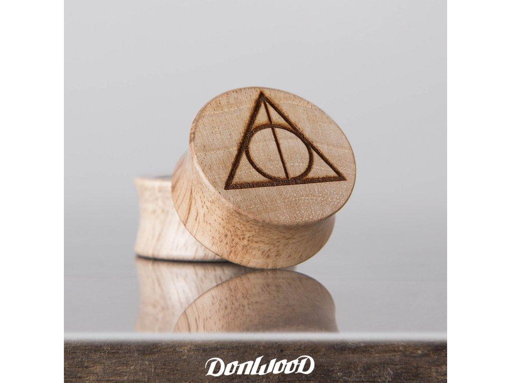dreveny plug do ucha relikvie smrti DonWood