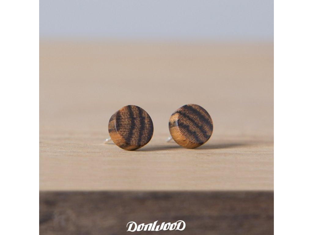 dřevěné naušnice bocote