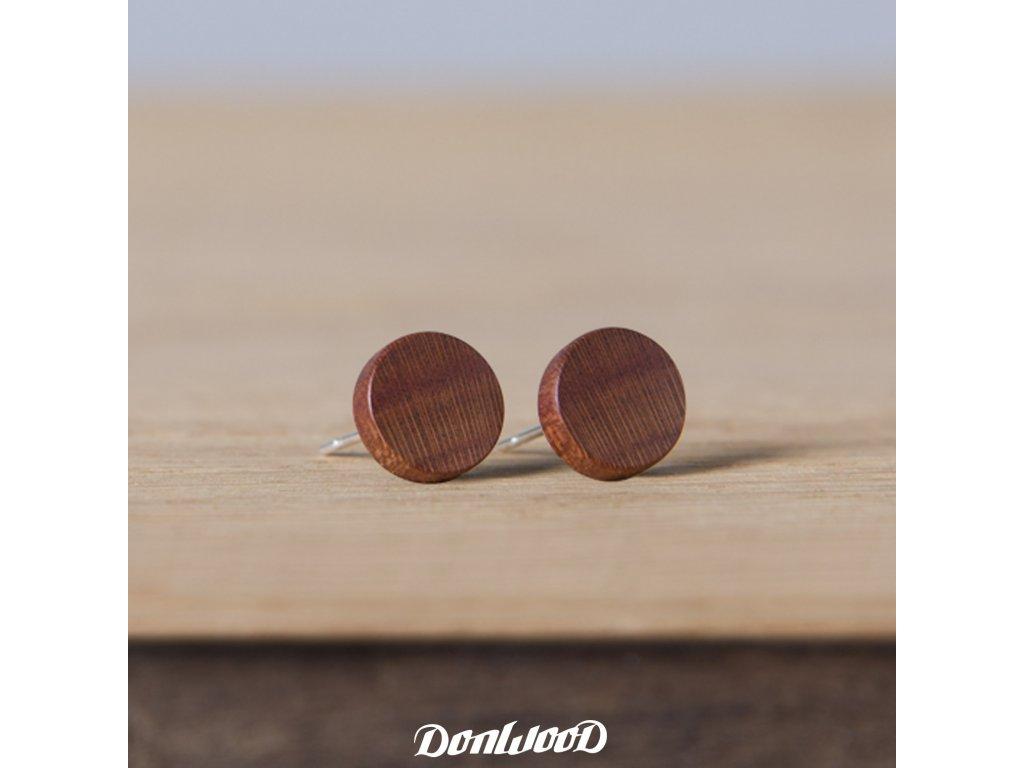 dřevěné naušnice švestka