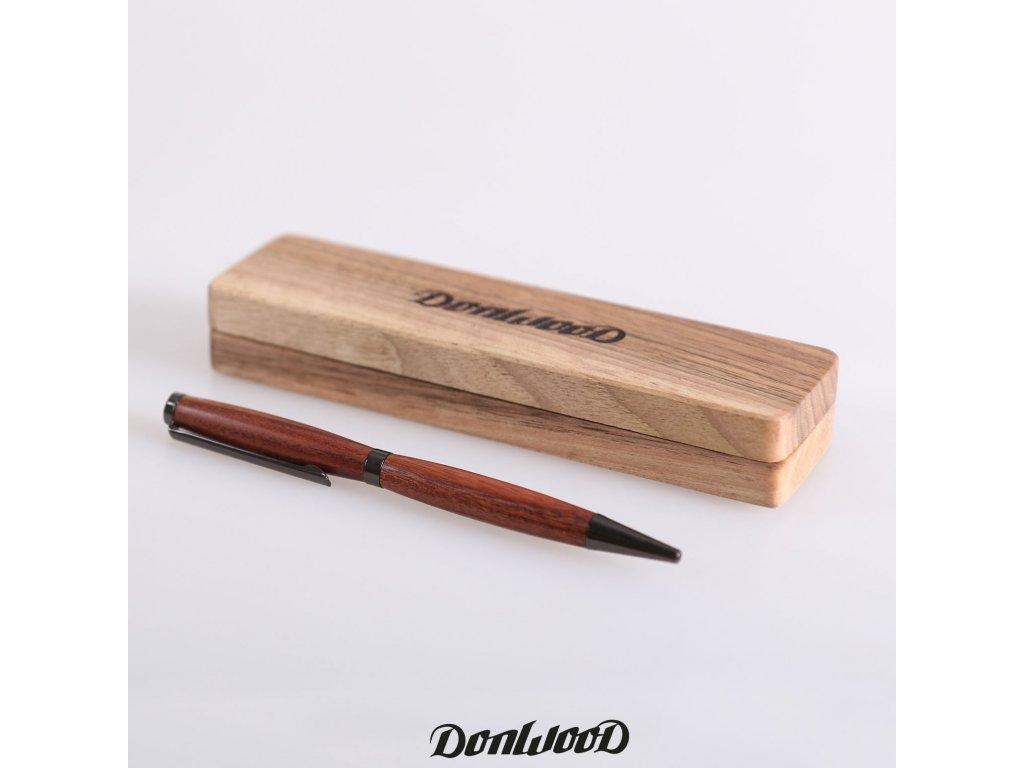 Mopane dřevěné psací pero černé krabička