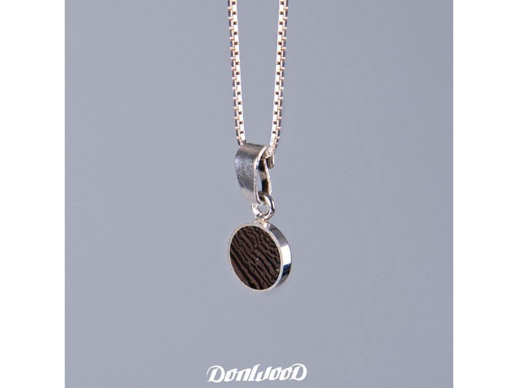 Donwood řetízek wenge stříbro