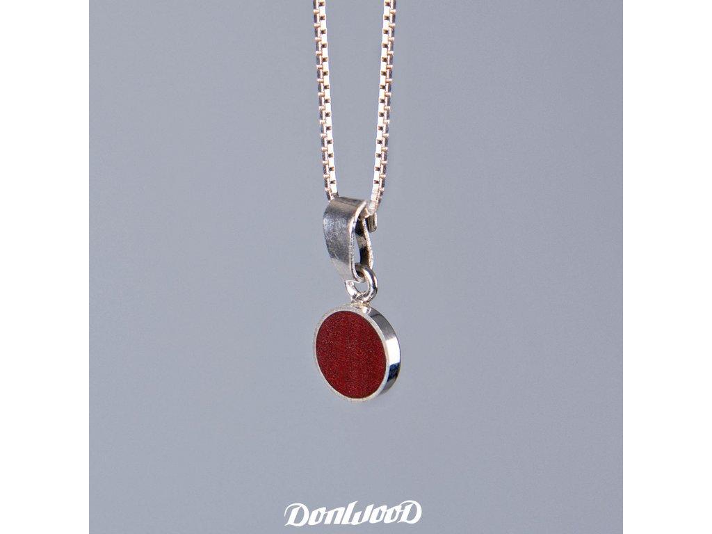 Donwood řetízek pink ivory stříbro