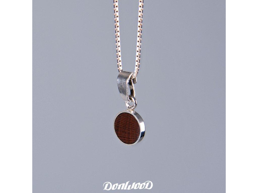 Donwood řetízek švestka02 stříbro