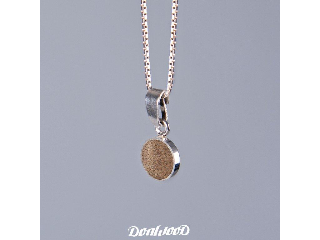 Donwood řetízek ořech stříbro
